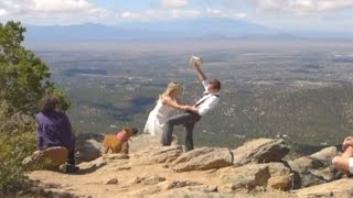 Wife saves NM husband from falling off cliff