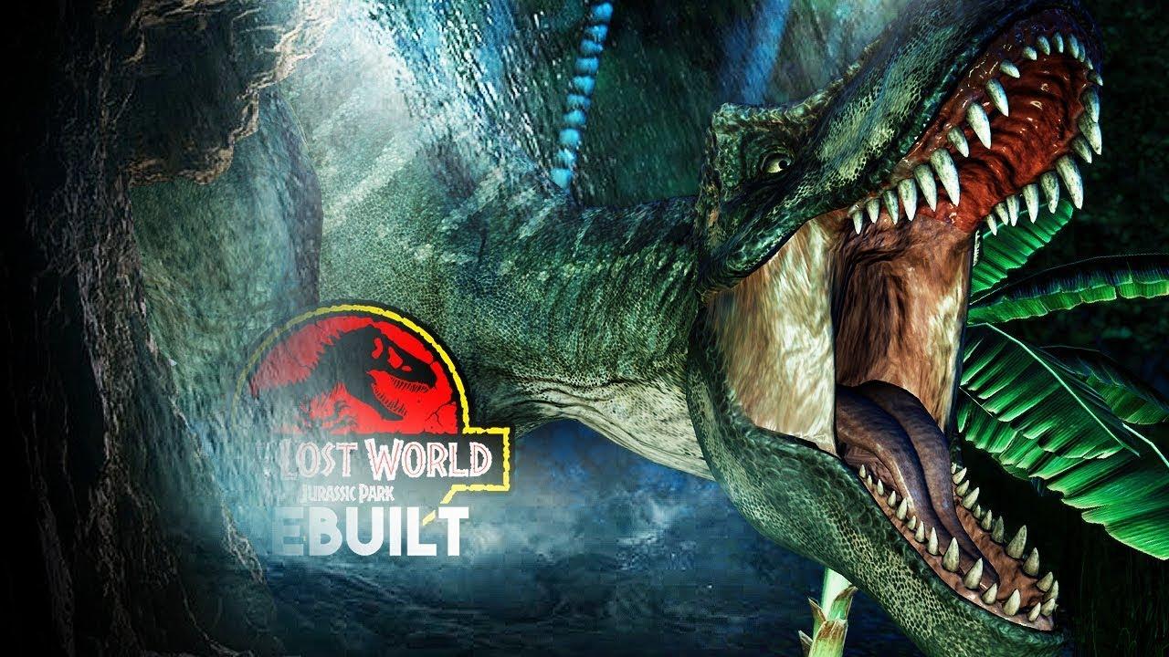 The T Rex Chase Scene The Lost World Jurassic Park Rebuilt Jurassic World Evolution Youtube
