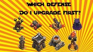 Clash of Clans - What Defenses to Upgrade First