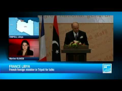 France-Libya : French foreign minister Laurent Fabius in Tripoli for talks