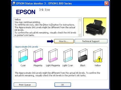 Cara Memperbaiki Lampu Merah Berkedip Di Epson L800 Youtube