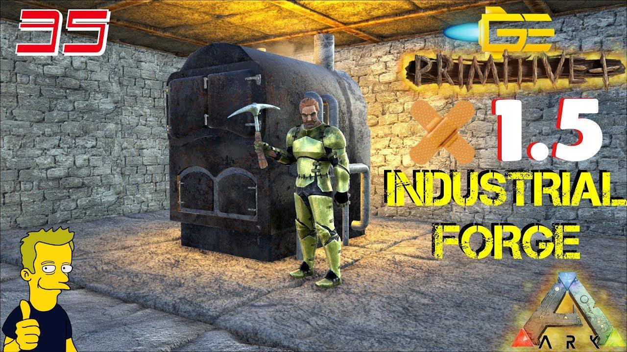ark primitive plus patch 1 5 industrial forge base build s2 e35 youtube. Black Bedroom Furniture Sets. Home Design Ideas
