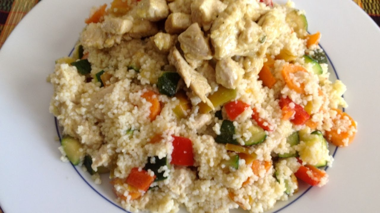 Receta De Ensalada De Pollo Con Couscous Chicken Salad Recipe With Couscous