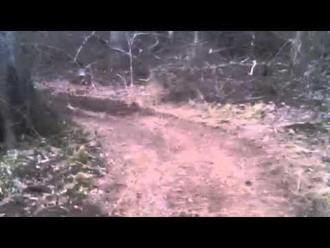 Homemade dirt bike track