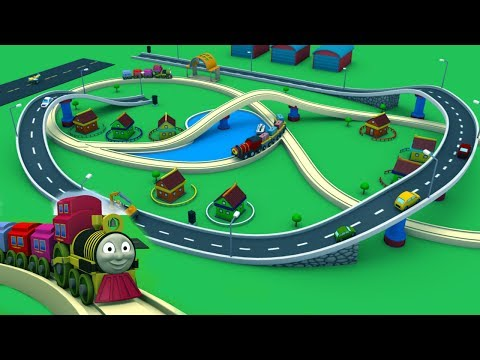 Cartoon for kids - Toy Train Cartoon for children -Train Videos for kids - Toy Factory Cartoon