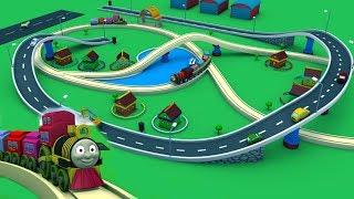 Dibujos animados para los niños - Tren de Juguete de dibujos animados para niños -Videos de Trenes para niños - Fábrica de Juguetes de dibujos animados