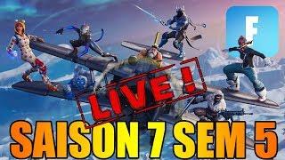 LES DEFIS !! SAISON 7 SEMAINE 5 EN LIVE DANS FORTNITE !! (partie 1)