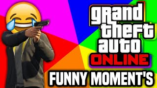Gta5 online funny moment's exploding jetpack, car chase