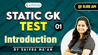 9:00 AM - Static GK Test | SSC and Railway Exams | GK by Shipra Chauhan | Introduction