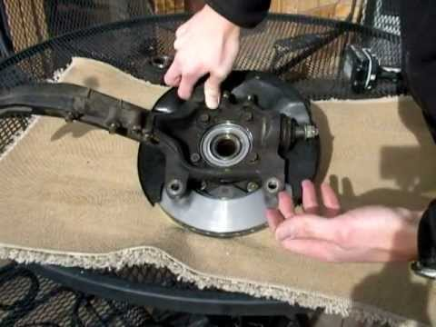 1995 Honda Accord Rotor And Wheel Bearing Replacement Trapped Rotor Youtube