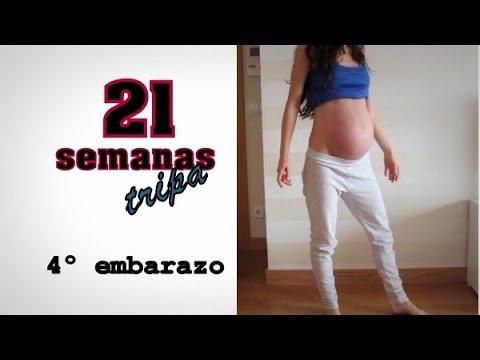 Embarazo tamano semanas barriga 20