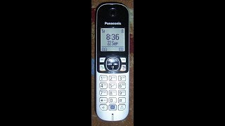 Funktionsprüfung Panasonic KX-TG6811GB  Schnurloses Telefon,Wireless phone