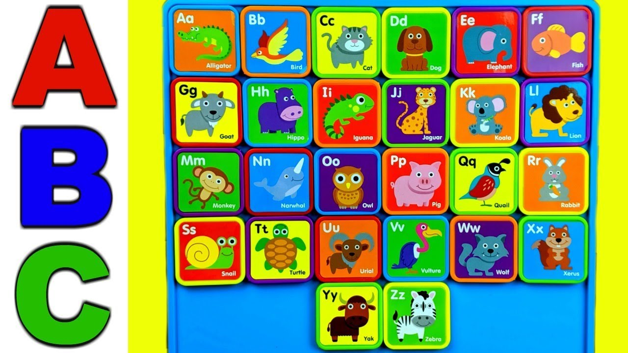 Learn ABC Alphabet!  Learn ABC's and Animals with Fun Alphabet Magnets!  Learning Video For Toddlers