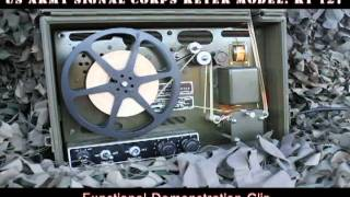 Army Signal Corps Keyer Demonstration Clip
