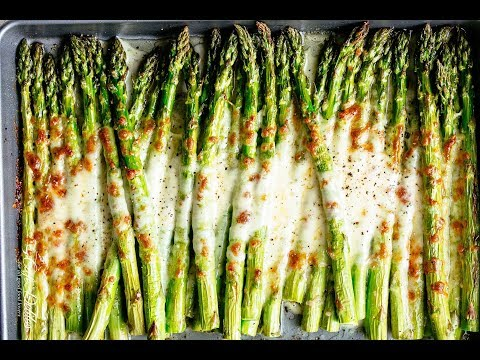 Cheesy Garlic Roasted Asparagus