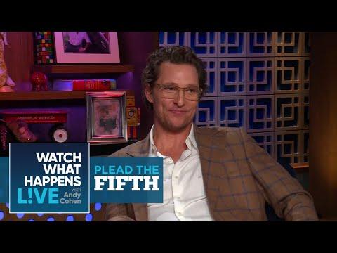 Did Matthew McConaughey Date Janet Jackson?  Plead The Fifth  WWHL