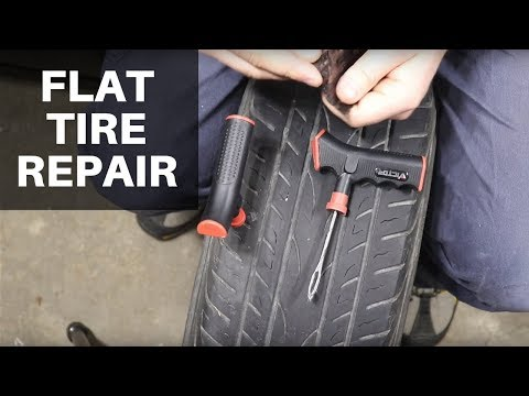 How to Plug a Tire: Flat Tire Repair