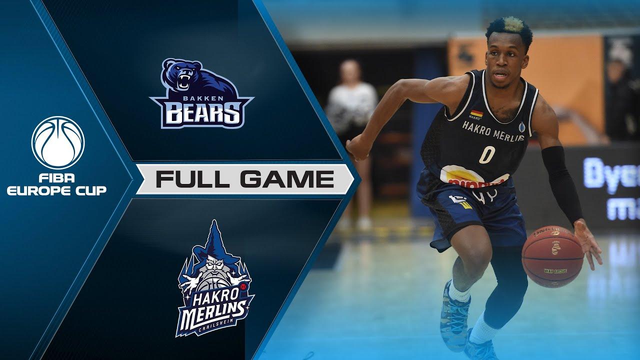 Bakken Bears v HAKRO Merlins Crailsheim | Full Game - FIBA Europe Cup 2021-22