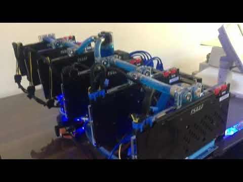 Water Cooling  For GPU Mining Rig 6 Nvidia MSI 1070 Sea Hawk EK