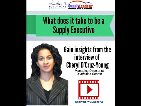 What's it take to be a Supply Chain Executive - Introduction - Interview with Cheryl D'Cruz-Young