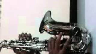 tujhe dekha to ye jana sanam saxophone chethan H.A.