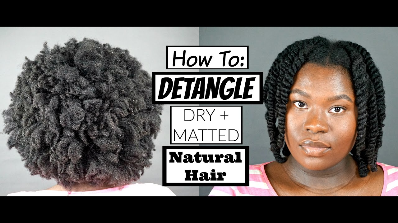 detangle thick dry matted