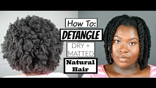 How To: Detangle THICK, DRY + MATTED | Finger Detangling | Type 4a 4b 4c Natural Hair | Bubs Bee