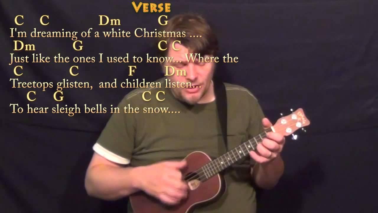 White Christmas Ukulele Cover Lesson In C With Chordslyrics Youtube