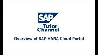Overview of SAP HANA Cloud Portal