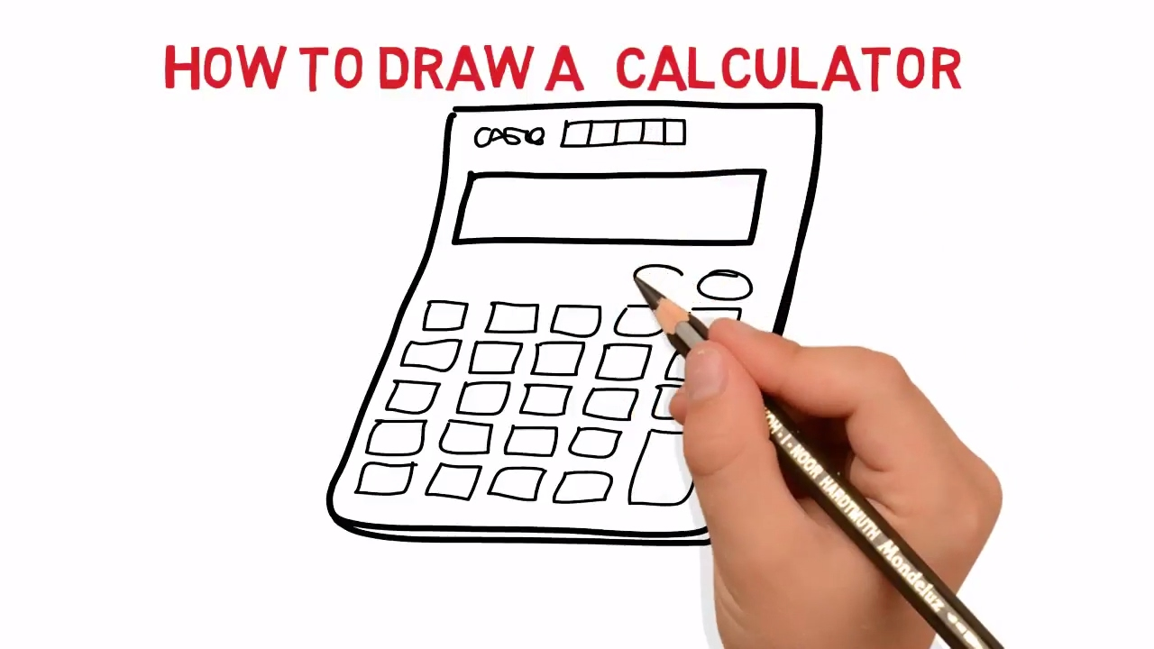 calculator sketch picture how to draw a calculator sketch picture latest  video demo tutorial