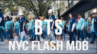 BTS LOVE YOURSELF NYC FLASH MOB BY I LOVE DANCE