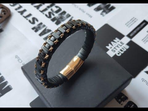 "Мужской браслет ""Gold & Black"" от Man Style Club"