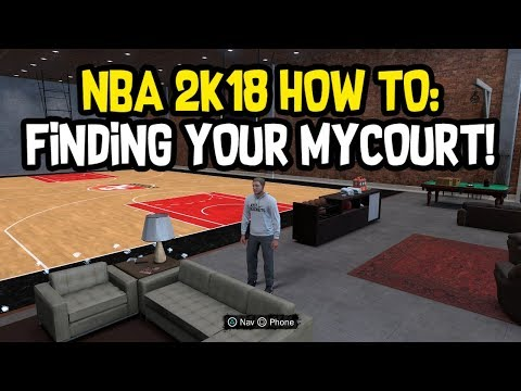 HOW TO FIND YOUR MY COURT IN NBA 2K18!
