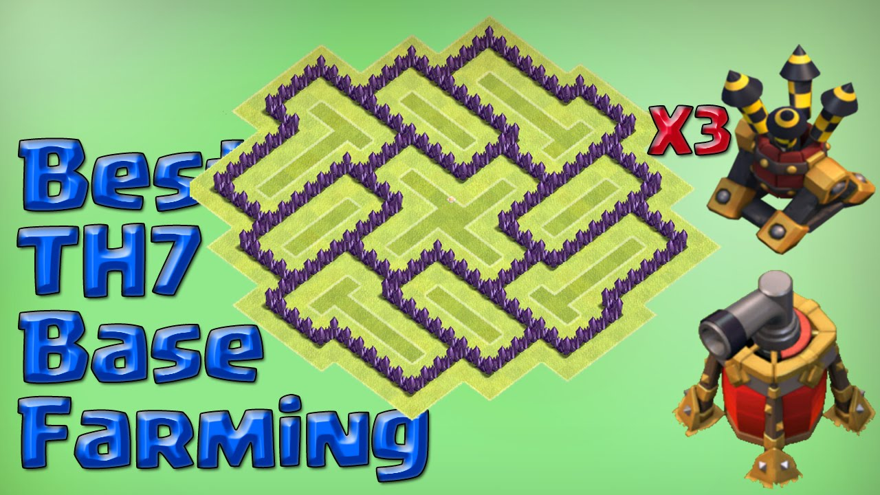 Clash Of Clans Town Hall 7 Defense Coc Th7 Best Farming