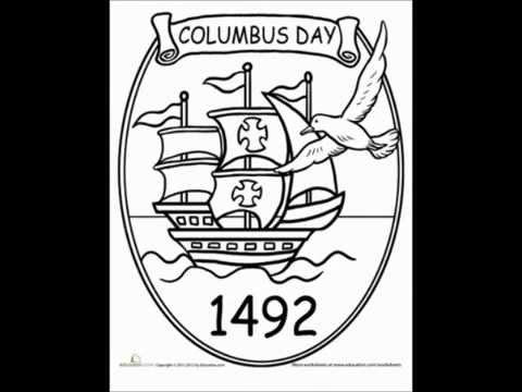 Columbus Day Free Coloring Pages 2014 Coloring Sheets For Preschoolers Youtube