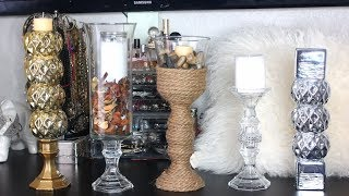 DIY candle holder dollar tree | Dollar tree candle holder Ideas | Easy DIY candle holders