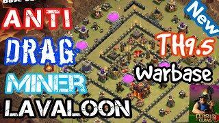 Th9.5 war base 2018 with replays (xbow farm troll base)