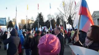 Саратов, 18 марта 2015 года, митинг в честь годовщины возвращения Крыма в состав России