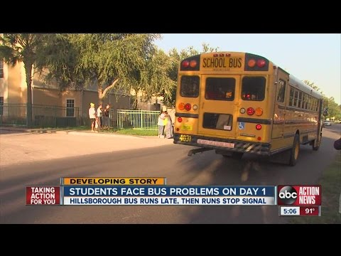 Students face bus problems on day 1
