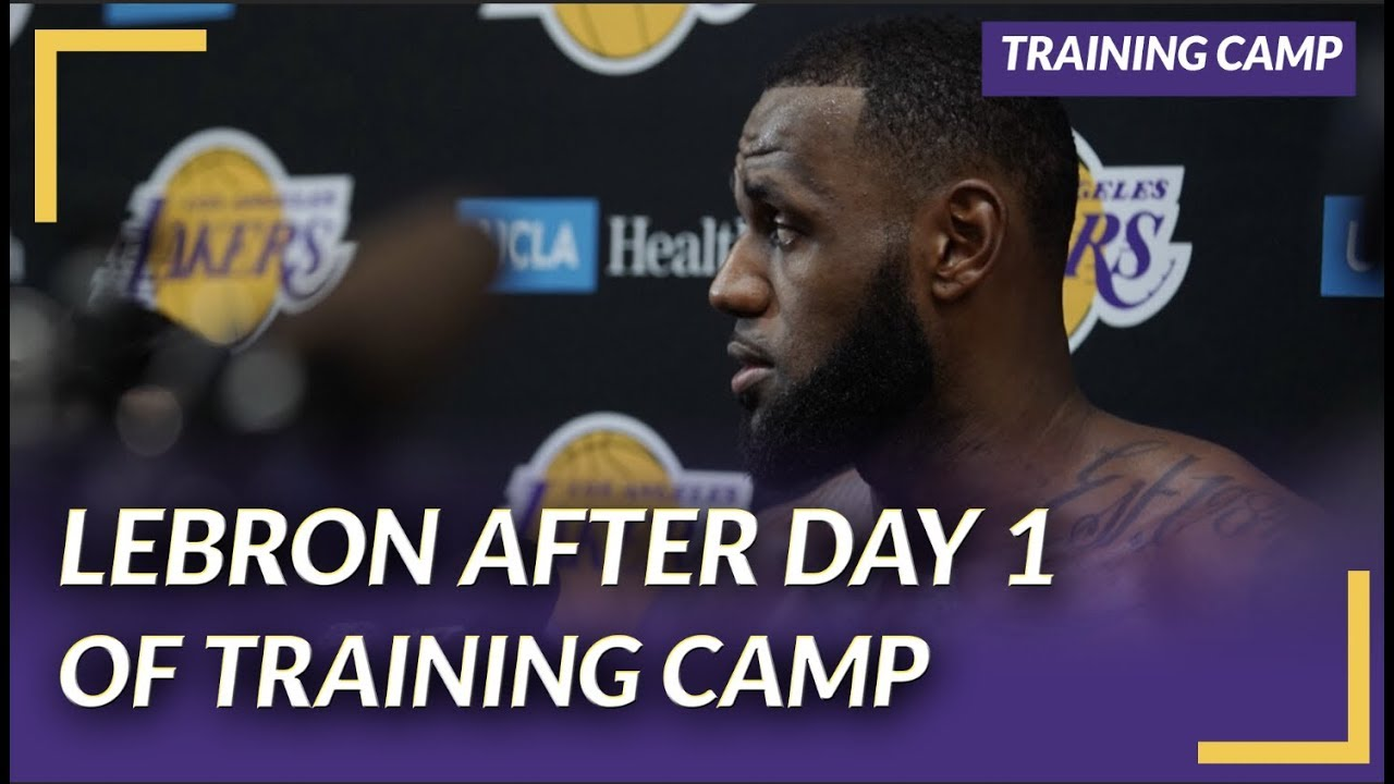 b6b8b8a35 Lakers Nation Interview  LeBron On First Day of Training Camp   What ...