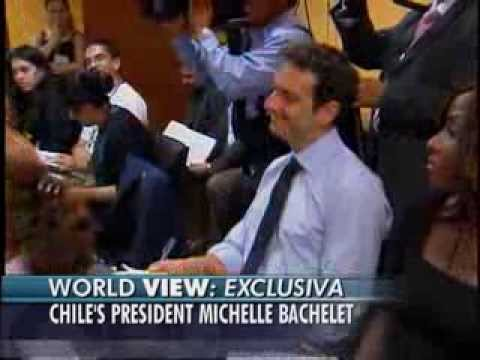 ABC News David Puente/ Pres. Michelle Bachelet, Chile