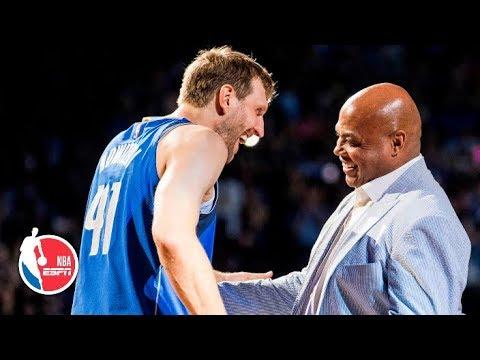 Charles Barkley, Scottie Pippen and Larry Bird pay tribute to Dirk Nowitzki l NBA on ESPN