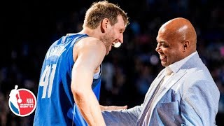 Charles Barkley, Scottie Pippen and Larry Bird pay tribute to Dirk Nowitzki l NBA on ESPN