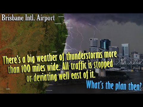 EXTREME WEATHER AT BRISBANE | Flights diverted & Missed Approaches