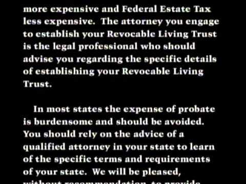 California Living Trust Important Notes