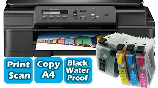 Unboxing brother dcp-j100 printer