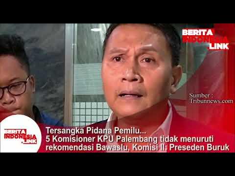 Tersangka Pidana Pemilu..!! 5 Komisioner KPU Palembang tidak ikuti rekomendasi Bawaslu.