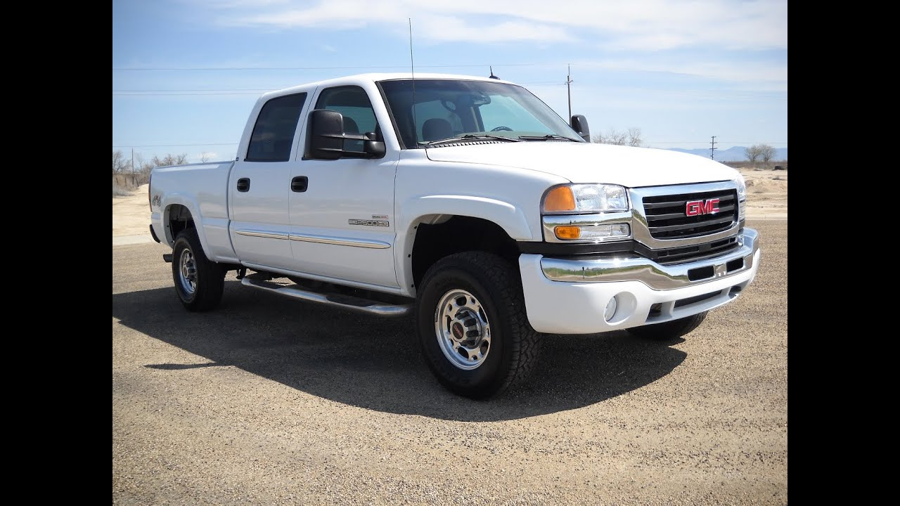 2005 gmc sierra 2500hd _ duramax 4x4 _ stock 0400