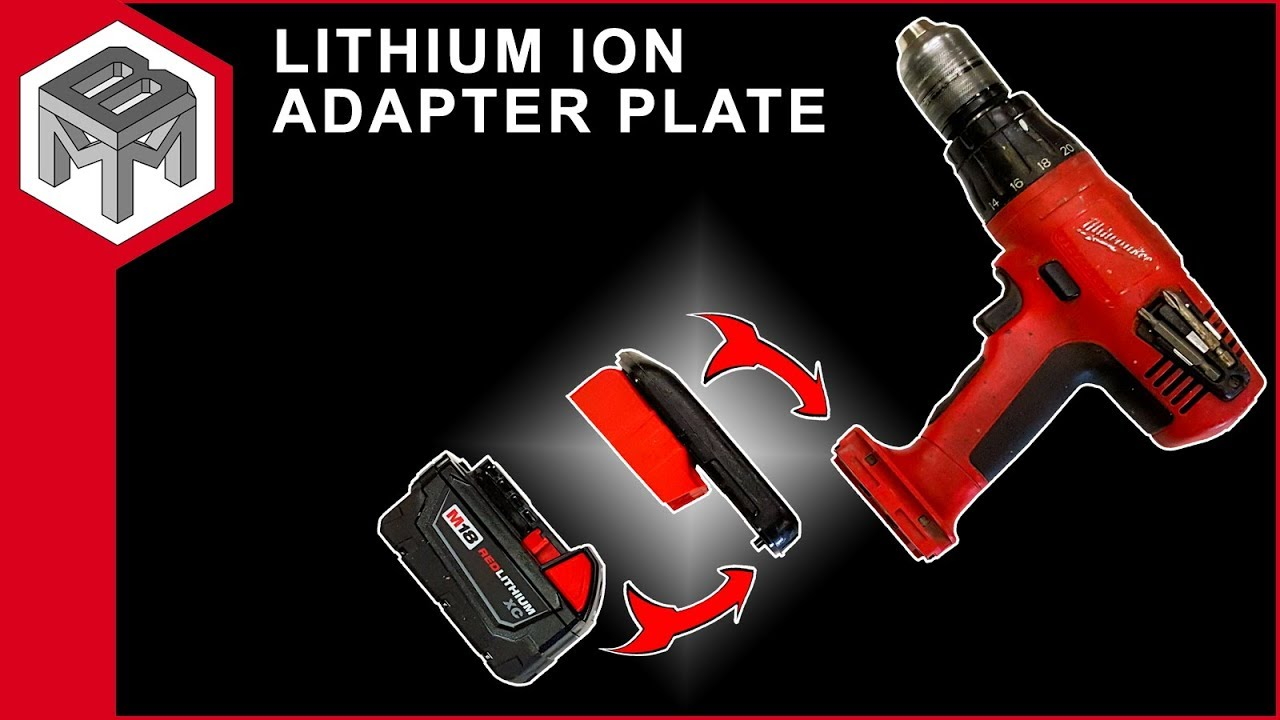 how to make an 18v nicad to 18 volt lithium ion battery adapter for milwaukee tools [ 1280 x 720 Pixel ]
