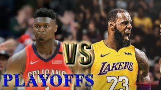 Los Angeles Lakers vs New Orleans Pelicans - Full Game! NBA PLAYOFFS - Game 3 - NBA 2K20